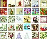IHR Christmas Traditional English Xmas Paper Table Napkins - Mistletoe White