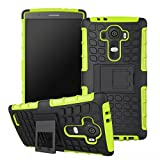 LG G4 Case, Sophia Shop Heavy Duty Tough Rugged Dual Layer Case with Built-in Kickstand, TANK Series Slim Fit Dual Layer Hybrid Armor Protective Case Cover for LG G4 ToughBox Carrier Compatibility AT&T, Verizon, T-Mobile, Sprint, And All International Carriers (Green)