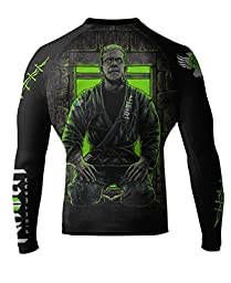Raven Fightwear Men\'s BJJ Horror Frankenstein\'s Monster MMA Rash Guard Large