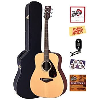 Yamaha FG700S Folk Acoustic Guitar Bundle with Hardshell Case, Tuner, Instructional DVD, Strings, Pick Card, and... review