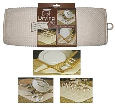 "The OriginalTM Dish Drying Mat XL Microfiber Absorbent Machine Washable Fast Drying 18""X24"" Multipurpose"