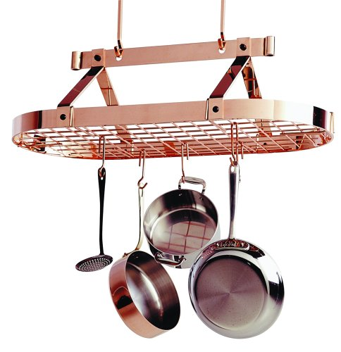 Cheap Enclume PR16BWG CP Premier 3-Foot Oval Ceiling Pot Rack, Copper (PR16bwg (CP))