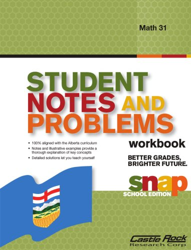 Student Notes and Problems Solution Manual Math 31
