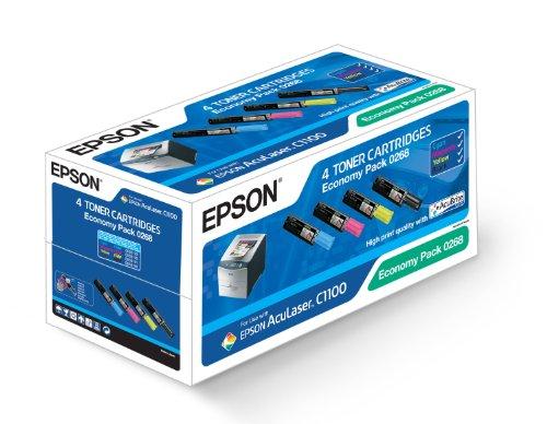 Epson C13S050268 AcuLaser C1100 Tonerkartusche schwarz und farbig
