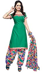 Krisha Womens Cotton Salwar Unstitched Dress Material (P2-204 _Green)