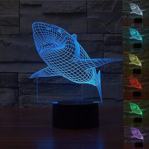 Great White Shark 3D LED Night Light