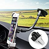CARPRO 3 In 1 Universal Adjustible Dashboard Car Mount Holder Air Vent Windshield Phone Holder Cradle for iphone 6 6 plus 5 5s 5c 4 4s, Android Samsung Galaxy S7 S6 S5 S4 S3, Note3 and More