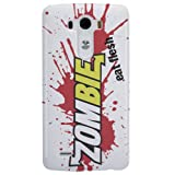LG G3 Case - White Hard Plastic (PC) Cover with Zombies Eat Flesh Design