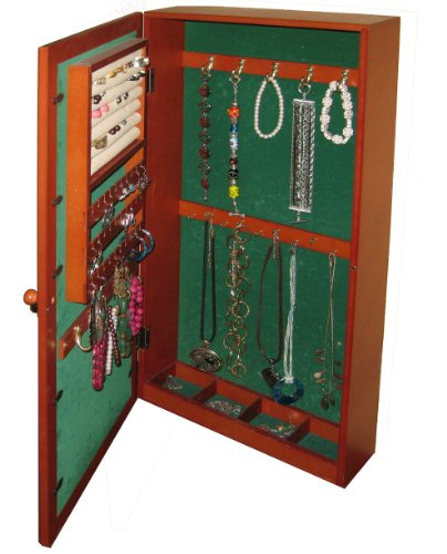 Hanging Mirrored Jewelry Armoire Hanging Mirrored Jewelry Armoire