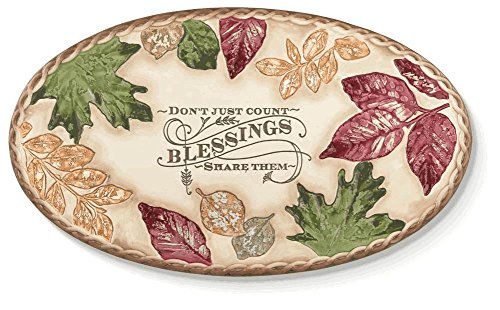 Blessings Oval Serving Tray By Grasslands Road