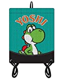 NINTENDO SUPER MARIO BROS. Yoshi Gym Bag with Mesh Exterior, Turquoise