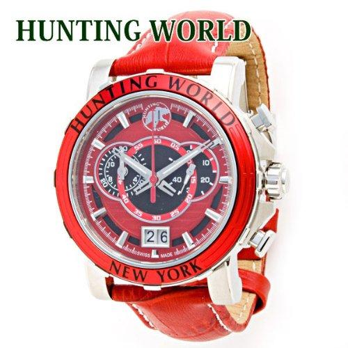 ハンティングワールド HUNTING WORLD 時計 腕時計 メンズ イリス アナログ表記 クロノグラフ レッド HW913RD [ウェア&シューズ]