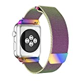Apple Watch Band 38mm, YaSpark Fully Magnetic Closure Clasp Mesh Loop Milanese Stainless Steel iWatch Strap for Apple Watch Series 3 Series 2 Series 1 Sport and Edition
