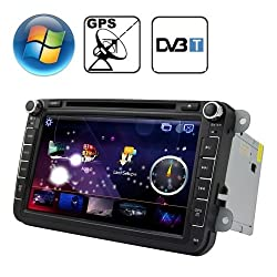 See Rungrace 8.0 inch Windows CE 6.0 TFT Screen In-Dash Car DVD Player for Volkswagen with Bluetooth / GPS / RDS / DVB-T Details