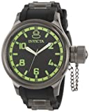 Invicta Russian Diver Men's Quartz Watch with Black Dial Analogue Display and Black Rubber Strap 1440
