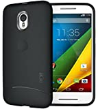 TUDIA Ultra Slim Full Matte ARCH TPU Bumper Protective Case for Motorola Moto G 3 (3rd Gen 2015 Released) (Black)