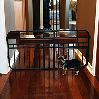 Design Studio Expandable Gate with Pet Door