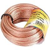 Hama cavo per altoparlanti 2 x 1,5 mm², 15 m. Colore: Trasparente
