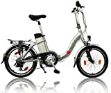 AsVIVA Elektrofahrrad Klapprad, 36V Power Pedelec, Reifengre: 20 Zoll (50,8 cm)