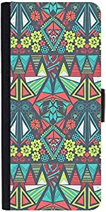 Snoogg Diamond Floral Pattern Designer Protective Phone Flip Case Cover For Vibe K4 Note