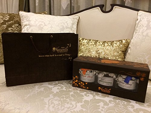 The Gift Box Of Exclusive Pure, Raw, Natural, Jamun Honey, Litchi Honey, Acacia Honey (3 Nos 250 Gms) Bottles,...