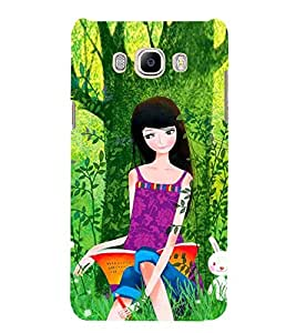 Girl under tree Designer Back Case Cover for Samsung Galaxy J7(2016) Edition 5.5 Inches Screen