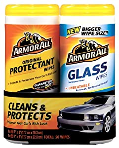 Armor All Protectant Wipe and Glass Wipe Set - 25 Sheets, (Pack of 6) by Armor All