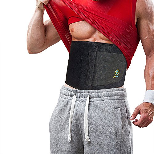 Just Fitter Premium Waist Trainer & Trimmer Ab Belt For Men & Women. More Fully Adjustable Than Other Stomach Slimming Sauna Belts. Provides Best Support For Lower Back & Lumbar. (Waist Trimmer Belts compare prices)