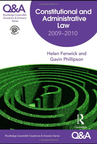 Q&A Constitutional & Administrative Law 2009-2010 (Questions and Answers)