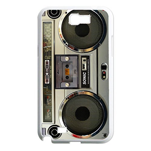 Nostalgic Boombox Vintage Hd Phone Case For Samsung Note 2 N7100 Case (White)