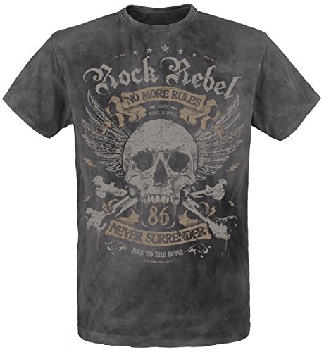 Rock Rebel by EMP No More Rules T-Shirt carbone M