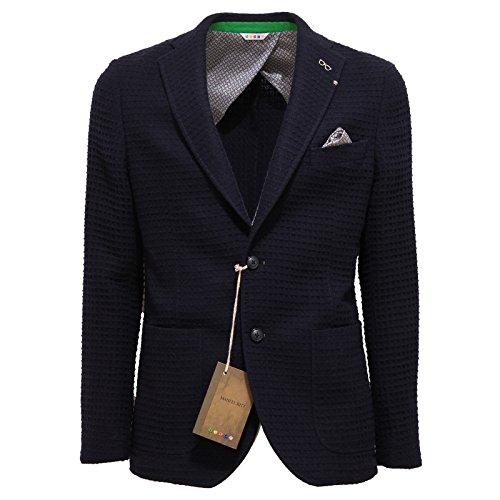 3339Q giacca uomo blu MANUEL RITZ jacket coat men [48]