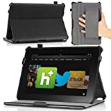 MoKo(TM) Slim-fit Folio Cover Case With Built-in Stand For Amazon Kindle Fire HD 8.9 Inch Tablet Black