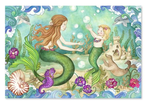 Melissa & Doug Mermaid Playground 48 Piece Floor Puzzle back-369444