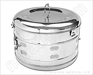"NET Dressing Drum , S.S., Sz: Dia 6"" x Ht. 6"""