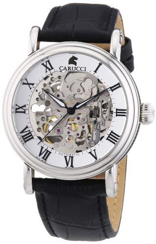 Carucci Watches Men's Automatic Watch Catanzaro II CA2203BK with Leather Strap