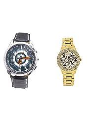 Foster's Men's Grey Dial & Foster's Women's Golden Dial Analog Watch Combo_ADCOMB0002319