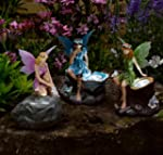 Fairy Statue Solar Spotlights (Triple...