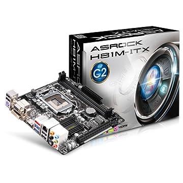 ASROCK マザーボード HASWELL対応 C2ステッピング miniITX H81M-ITX