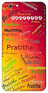 Pratitha (Well known) Name & Sign Printed All over customize & Personalized!! Protective back cover for your Smart Phone : Samsung Galaxy A-3