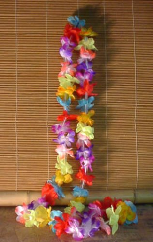 Small Hawaiian Flower Leis (1 Dozen Per Package) by TikiZone