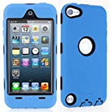 i-Blason ArmorBox Hybrid 3 Layer Defender Case with Built-In Screen Protector for iPod touch 5G (Blue)