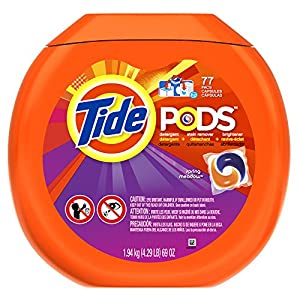 PODS Spring Meadow HE Turbo Laundry Detergent Pacs 77-load Tub