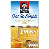Quaker Oats Oat So Simple Golden Syrup Flavour 9 x 10 Sachets