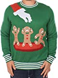 Ugly Christmas Sweater - Gingerbread Nightmare Sweater (Green) by Tipsy Elves (Large)