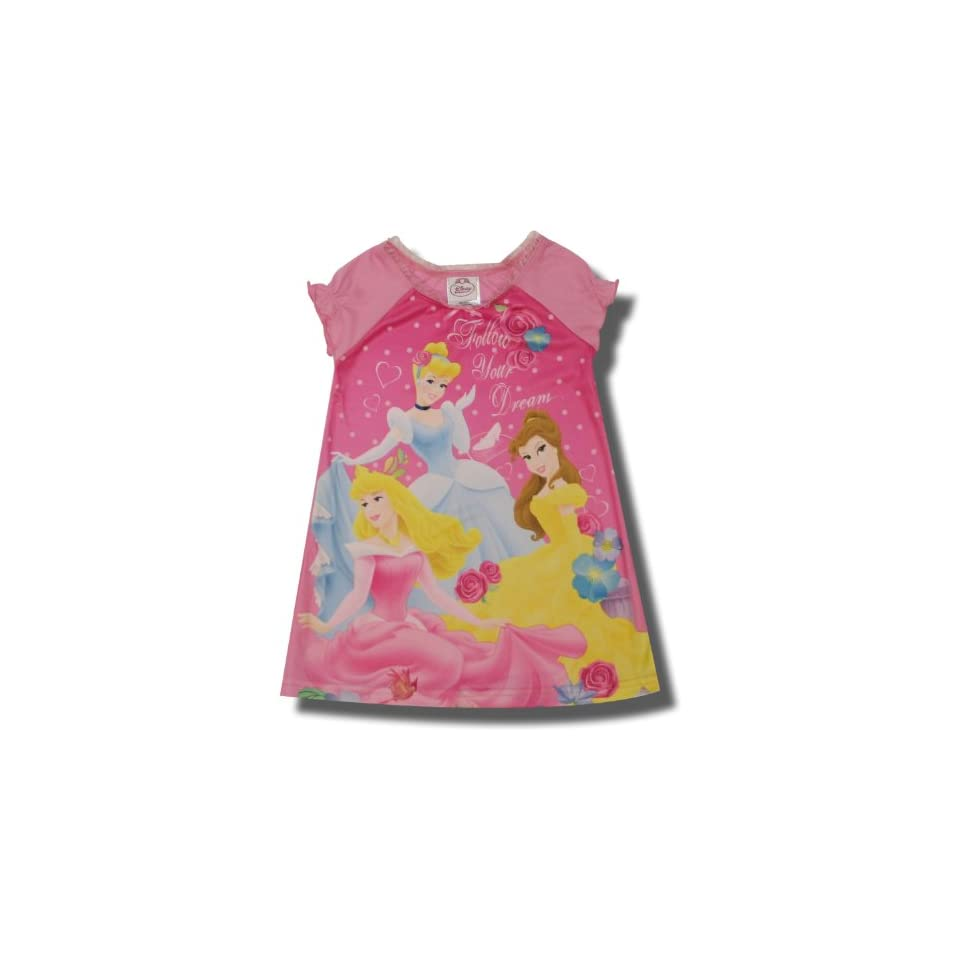 Cinderella, Aurora and Belle Follow Your Dreams nightgown for toddler girls   2T