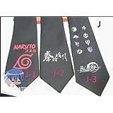 Naruto Sasuke Anime Cosplay Accessory Necktie Zipper Zip Tie J1