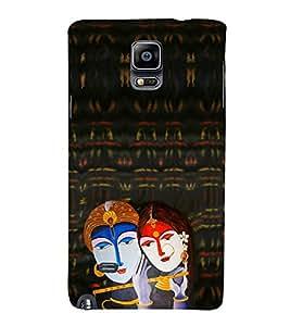 EPICCASE Lord krishna Mobile Back Case Cover For Samsung Galaxy Note 4 EDGE (Designer Case)