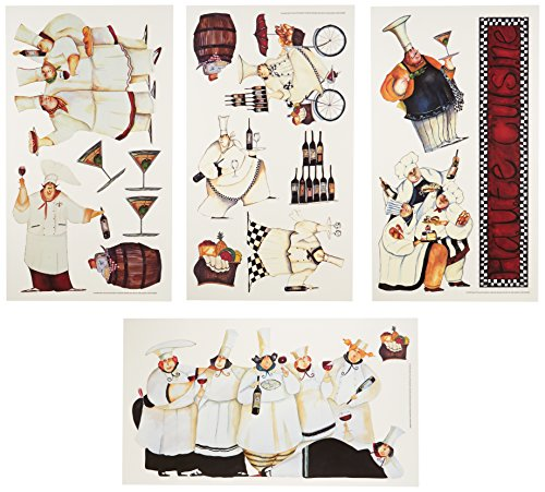 RoomMates RMK1255SCS Chefs Peel & Stick Wall Decals - 1