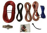 """Kicker TCWS102 10"""" 600W Car Loaded Subwoofer + Box + 850W Amplifier + Amp Kit"""